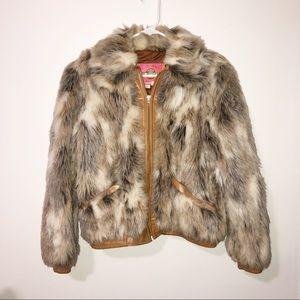 Vintage Ms. Pioneer faux fur jacket size 12